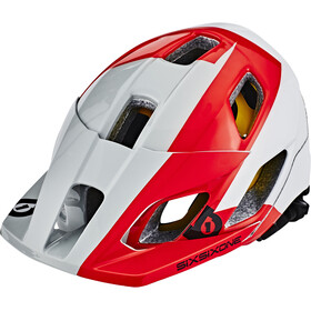 SixSixOne EVO AM MIPS Kask rowerowy, white/red/grey